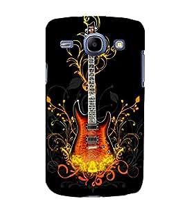printtech Cool Guitar Pattern Design Fire Back Case Cover for Samsung Galaxy A5 / Samsung Galaxy A5 A500F