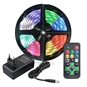 5m led rgb strip wasserdicht 150 5050 smds 30 leds meter led band wasserdicht mit. Black Bedroom Furniture Sets. Home Design Ideas