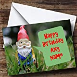 Garden Gnome Personalised Birthday Card
