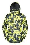 Mountain Warehouse Giacca da Sci Uomo Shadow, con Cappuccio, Fodera e Polsini e Orli Regolabili - Ideale per Sport Invernali Calce-verde XX-Large
