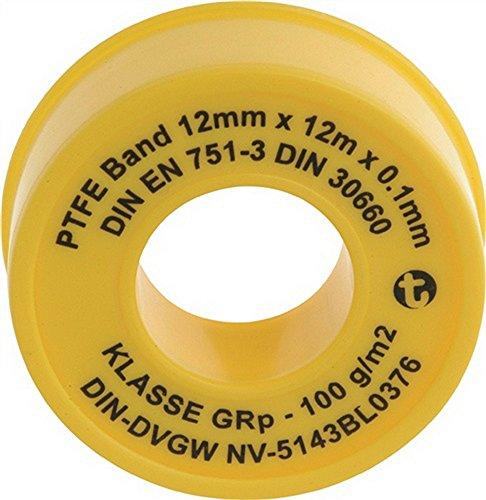 "PTFE-Dichtbandrolle ""12 mx12 mmx0,1 mm EAN """