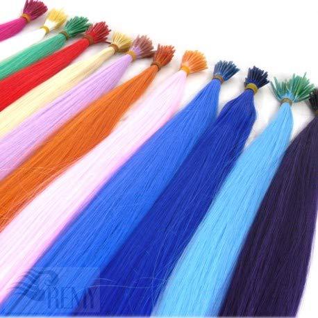 RemyHaar.eu - Bunte Strähnen Color Farbige Strähnchen I-Tip 0,4g Farbeffekte Haarverlängerung Kunsthaar - Color Mix, 20 Strähnen