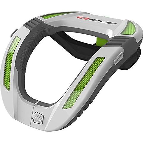 R4K-W-Y - EVS R4K Koroyd Youth Neck Protector White Green