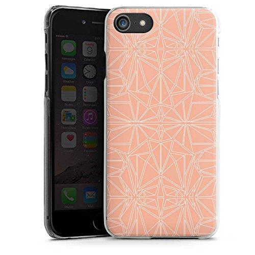 Apple iPhone X Silikon Hülle Case Schutzhülle Muster Pfirsich Ornament Hard Case transparent