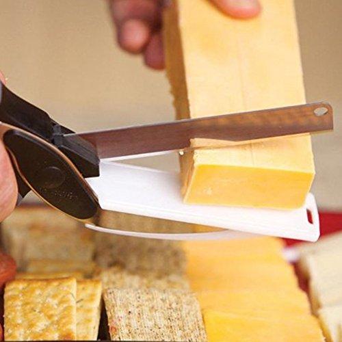 Clever tijeras de cocina para cortar verdura 2 en 1 cuchillo para cocina y tijera - Cuchillo cortar queso ...