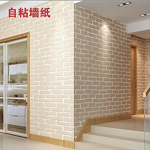 Étanche 3D stéréo PVC mur papier peint mur plat auto-adhésif