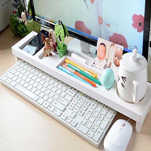 Schreibtisch-Organizer aus Holz und Kunststoff für Tastatur, Kommodität, platzsparend, Büro-Computer-Zubehör für Smartphone, iPad