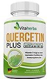 Reinheitsformel! Vitaherbs Quercetin Plus mit Rutin und Vitamin C - das pure der Natur ohne Trennmittel und Füllstoffe (120)
