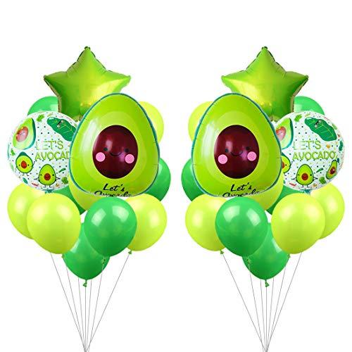 JOYMEMO Avocado Folienballons Partydekorationen für Fiesta Fruit mexikanischen Cinco De Mayo-Dekorationen