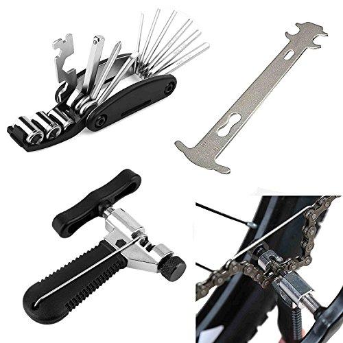 MTSBW Fahrradreparatur-Werkzeuge Kombination Set Kettenschneider Kettenmessschieber Mountainbike Kette Werkzeugschlüssel