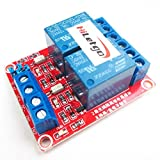 hiletgo® 2 DC 12 V 2-Kanal-Relais-Modul mit Isolierte Optokoppler High und Low Level H/L Level Trigger Modul für Arduino