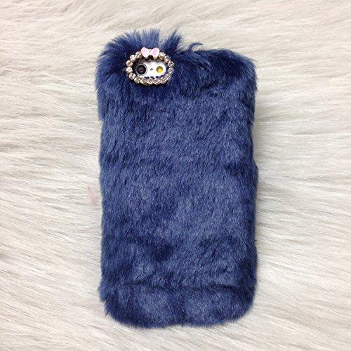 Pour Coque iPhone 6/6s , iNenk® Rex Imitation laine chaude téléphone Shell mode luxe marée couverture Protection affaire manchon Bowknot pour femmes-Rose rouge Bleu