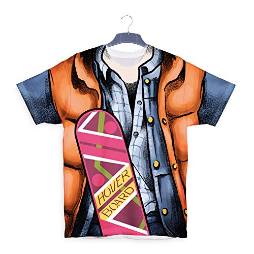 Marty McFly 21 October 2015 Hoverboard T shirt Weiß