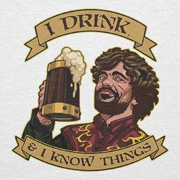 Texlab–I Drink, and I Know Things–sacchetto di stoffa Bianco
