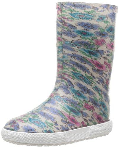 Boatilus Nautic, Bottes de pluie mixte enfant - Multicolore (Fleurs Vanille/Blanc), 33 EU (1 UK)