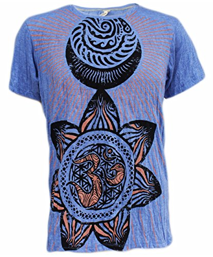 Yoga Shirts – Omtimistic Hombre Om Graphic T-Shirt Azul Claro Large