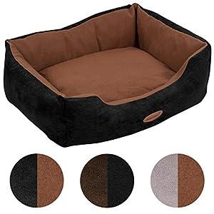 Hundebett Hundekorb Wendekissen Hunde-Matte-Kissen-Sofa stabil rutschfest waschbar robust Bezug abnehmbar Komfort Tier-Hunde-Katzen-Bett Schwarz-Braun