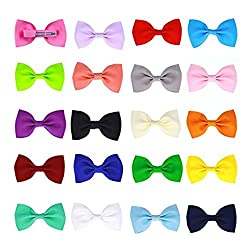 20 Pcs Baby Girls Toddlers Kids Tiny Boutique Hair Bows Clips Barrettes