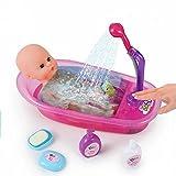 Brigamo interactif Poupées Baignoire avec douche, qui fonctionne avec bébé Bain Poupée et Accessoires