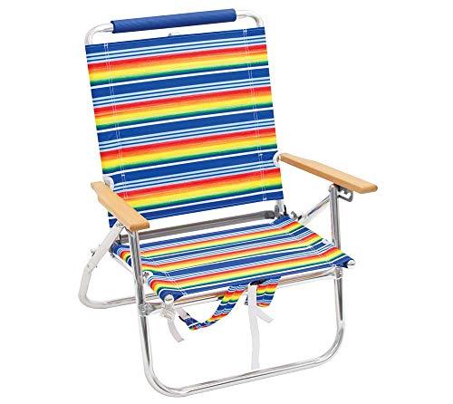 Rio Brands Gartenstuhl Strandstuhl Rucksackstuhl Campingstuhl Angelstuhl Klappstuhl robust und praktisch mit Rucksackfunktion multifarben bunt (Rio Rucksack Stuhl)