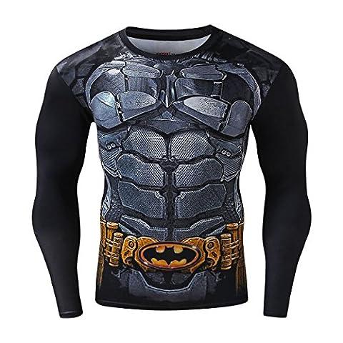 Cody Lundin Herren mode schwarzen Muskel lange gedruckt Langarm Gentleman coole Muster Casual Hemd männlich Sport Dress-Party im Freien T-shirt (XXL)