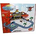 Parkhaus Autobahn mit Auto Hubschrauber Straße Car Park Happy Parking Spielzeug von HB Handels