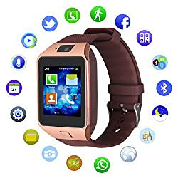 Kivors Bluetooth Smart Watch Dz09 Smartwatch With Sim Card Slot Phone Wristwatch With Pedometer 2.0mp Camera Call Reminder Message Notification Sync Anti-lost For Android Smartphones