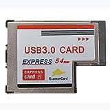NEC-Chip-Karte Expansion - TOOGOO(R)Converter Adapter USB 3.0 HUB A Express Card 2 Port 54mm Interior PR Win7 / 8 PC