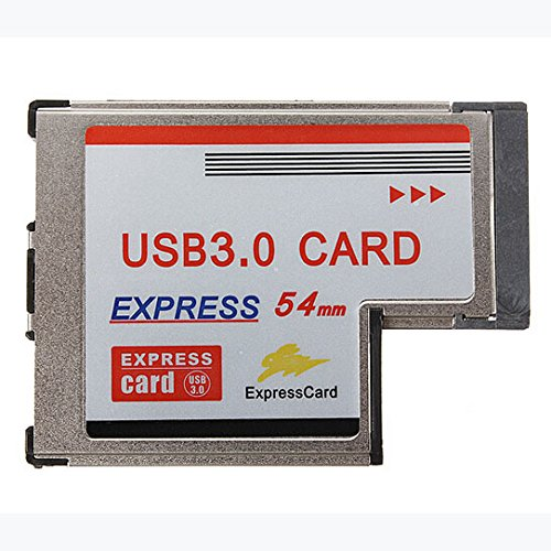 Pc Expresscard (NEC-Chip-Karte Expansion - TOOGOO(R)Converter Adapter USB 3.0 HUB A Express Card 2 Port 54mm Interior PR Win7 / 8 PC)