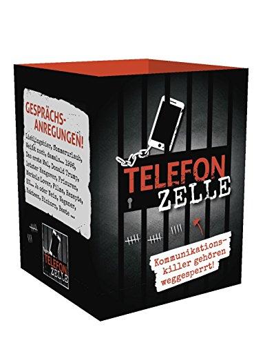 TelefonZelle - Das Original | Made in Germany | Handybox | Handygefängnis | Handyknast | Pappbox | RuheImKarton | Geschenkidee | Spieleabend | Handyhalterung