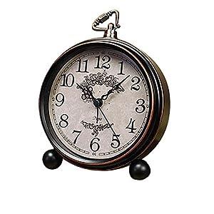 Fozela Vintage Wecker, Classic Bell Alarm Silence Wecker, Geräuschlos, Lautem Alarm und Batteriebetriebene (Nicht im Lieferumfang)