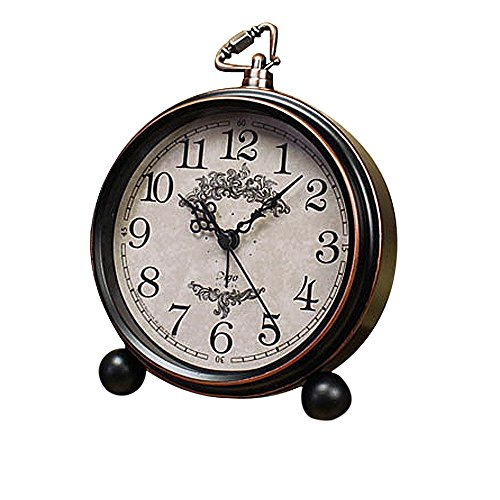 Vintage Wecker, Fozela Classic Bell Alarm Silence Wecker, Geräuschlos, Lautem Alarm und...