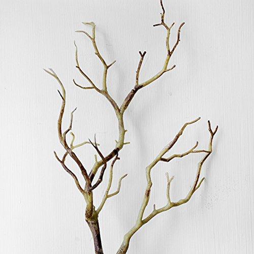 Woopower, albero artificiale, confezione da 2 rami da 35 cm, in plastica. piccolo albero con rami secchi, per decorazioni fai da te per casa o matrimonio, plastica, coffee, 35cm