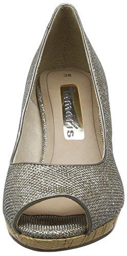 Tamaris - 29303, Sandali punta aperta Donna Argento (Argento (Platinum Glam 970))
