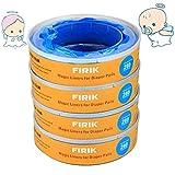 FIRIK 4 Recharges Anti-odeurs Compatible avec Angelcare Poubelle à Couche Classic