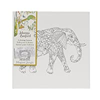 Art Alternatives Johanna Basford Magical Jungle Coloring Canvas-Elephant