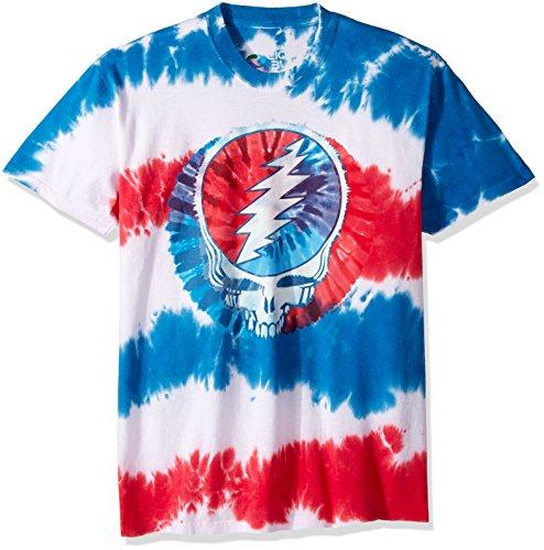 Blue Tie-dye-t-shirt (Liquid Blue Herren T-Shirt Grateful Dead American SYF Tie Dye Short Sleeve - Mehrfarbig - XX-Large)