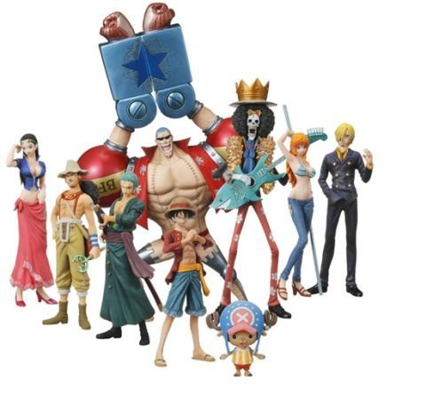 One Piece: Straw Hat Pirates Chozokei Damashii New World Ver. Trading Figures... (japan import) 1