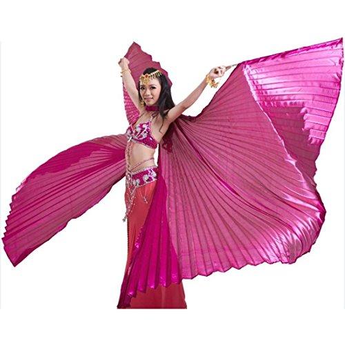 (Calcifer Isis-Flügel für orientalischen Tanz, ägyptisches Tanzkostüm-Zubehör, Geschenkidee, rot)