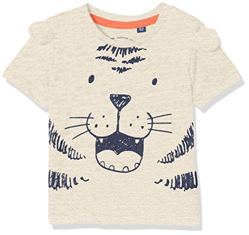 TOM TAILOR Kids TOM TAILOR Kids Unisex Baby T-Shirt 1/2, (Lunar Rock Melange Beige 8439), 62