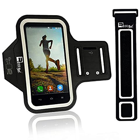 Premium Armband for iPhone 7 / 8 Plus with Fingerprint ID Home Button Access. Sports Phone Holder Case for Running & Exercise (Small 23cm - Large 53cm