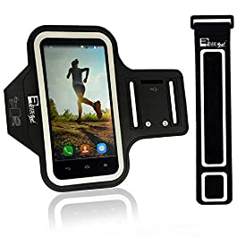 Premium iPhone 8 / iPhone 7 Armband with Fingerprint Home Button Access. Sports Phone Holder Case for Running & Exercise (Small – Large Arms)