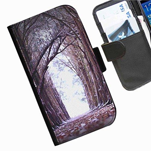 Hairyworm- Landschaften Seiten Leder-Schützhülle für das Handy Sony Xperia E3 (D2203, D2206, D2243, D2202)