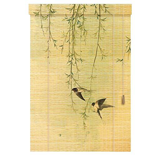 Chaxia tenda di bambù tapparella avvolgibile tenda stampa balcone casa da tè a prova di polvere anti-uv contro il sole, 3 stili, più dimensioni personalizzabile (colore : c, dimensioni : 120x200cm)