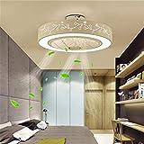 MINGLIANG Moderno LED Ventilatore a soffitto Lampada a LED silenziosa for la Camera dei Bambini Illuminazione del Ventilatore a soffitto