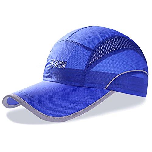 Hat Fashion capital Schnell trocknender Hut Breathable Men Sommer Cap Outdoor Sunhat Sonnencreme Leichte Reit Baseball Cap (Farbe : B, Größe : 56-60cm) (Sonnencreme Clip Für)