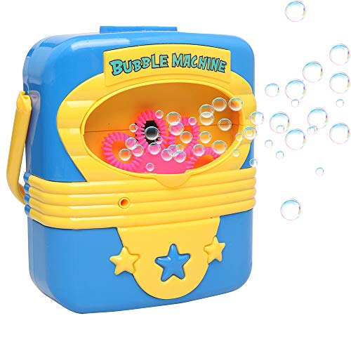 Gast Batterie Schalter (Ellien Seifenblasenmaschine Bubble Machine,Seifenblasen-Maschine Automatische Bubble Blower Bubble Maker Spielzeug für Kinder im Freien Spielen, Party, Hochzeit (Seifenblasenmaschine Kinder))