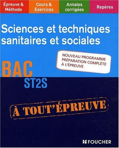 Sciences et techniques sanitaires et sociales, BAC ST2S