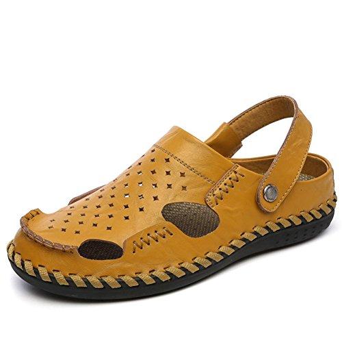 sandales d'été double/Hommes sandales baotou de creusage/Anti-dérapant portez des chaussures casual/sandales en plein air A