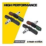 V-Brake Bremsschuhe 2 Paar 72mm Asymmetrisch I Ideale Bremsleistung für